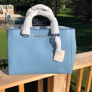 NWT Michael Kors Kellen Medium Leather Satchel